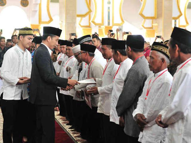 Jokowi Serahkan 25 Serfikat Tanah Wakaf di Kota Bengkulu