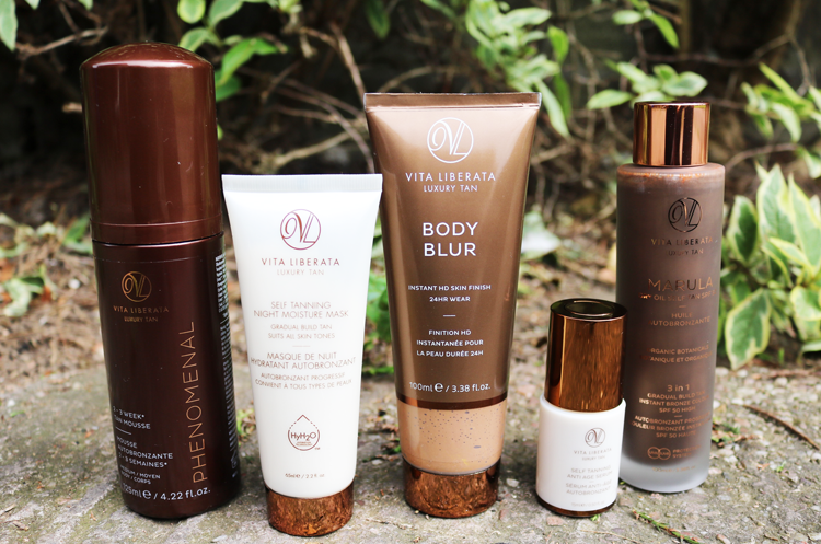 Vita Liberata Phenomenal Tan Mousse, Night Moisture Mask, Body Blur, Anti Age Serum & Marula Dry Oil Self Tan