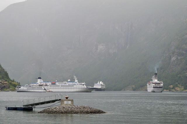 Noorwegen Geirangerfjord regen