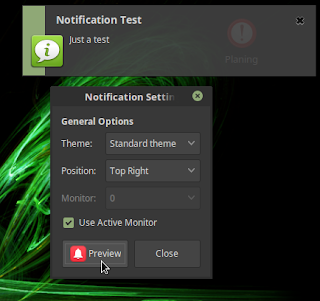 Mengatur Popup Notification di Linux Mint