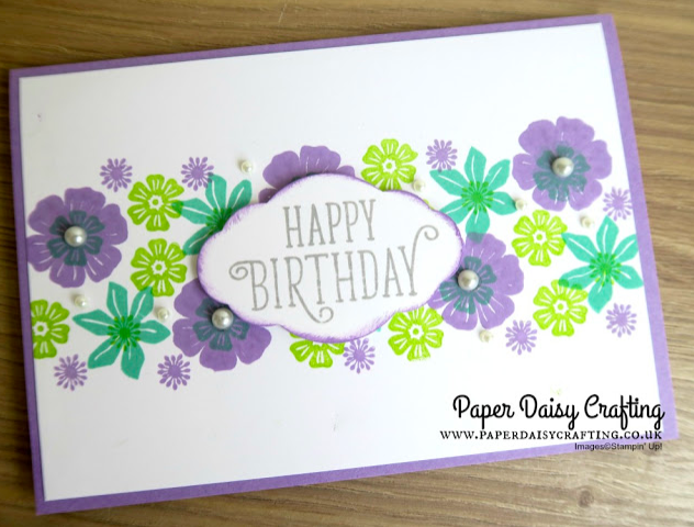 Beautiful Bouquet card Jill & Gez go crafting Stampin Up