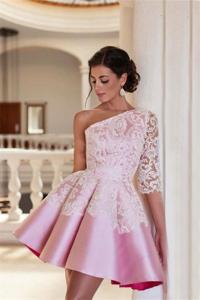 https://www.suzhoudress.com/i/one-shoulder-pink-half-sleeve-homecoming-dress-19645.html