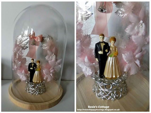 Our wedding cake topper beautifully displayed