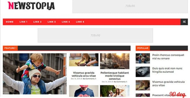 Newstopia Blogger Template