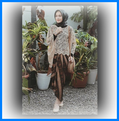 Model Kebaya Brokat Modern 2018 Contoh Baju Busana Muslim Terbaru
