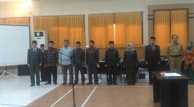 Bambang S Setiawan Dilantik Jadi Komisioner KPUD Kota Tasikmalaya
