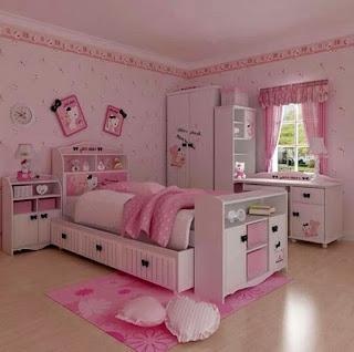 Gambar Kamar Hello Kitty Warna Pink 6