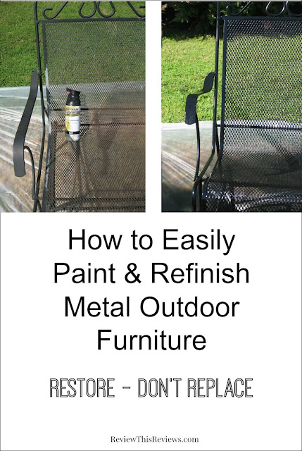 How to Easily Paint & Refinish Metal Outdoor Furniture
