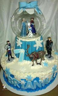 kue ulang tahun anak tema frozen