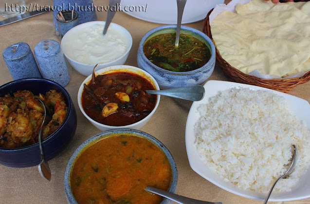 South Indian lunch at Neemrana Bungalow on the beach Tranquebar