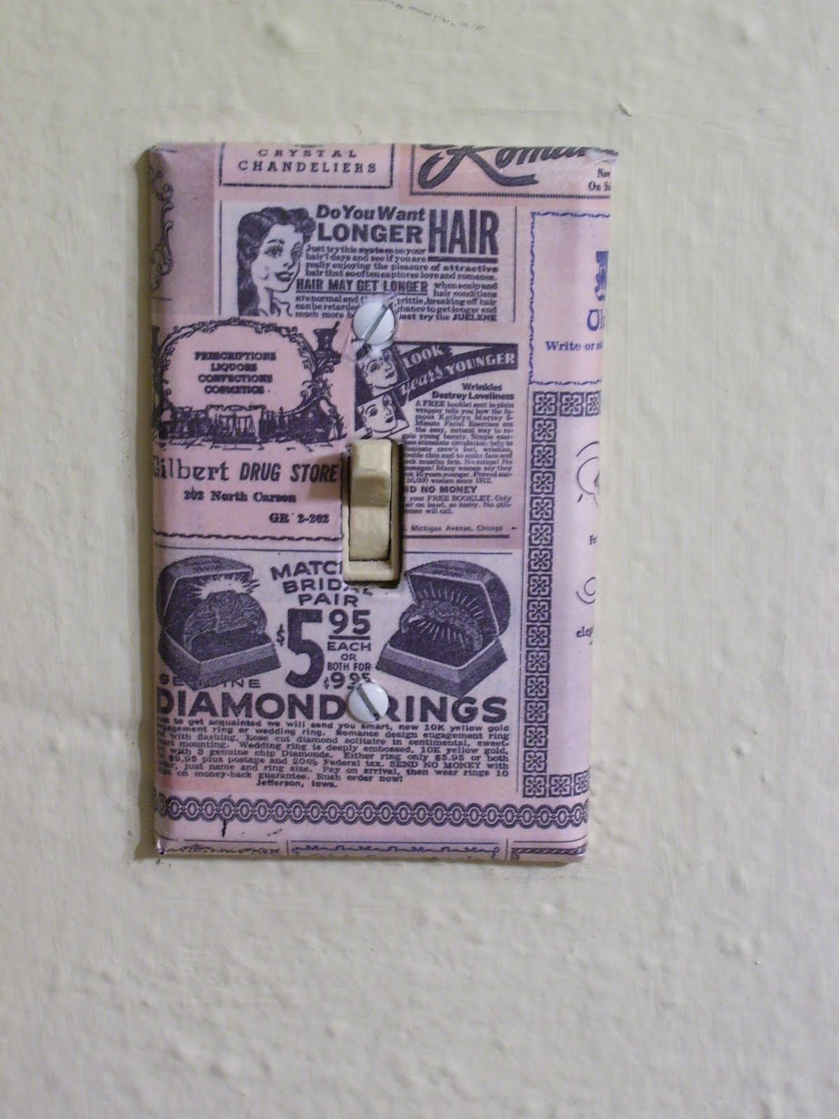 Whimsically Homemade: DIY Light Switch Plates