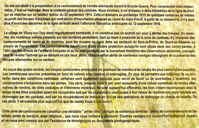 VILCEY-SUR-TREY (54) - Cantonnements allemands de la Grande Guerre