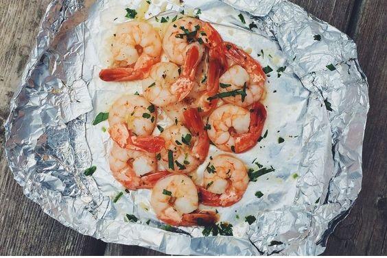 Foil Pack Butter Garlic Shrimp