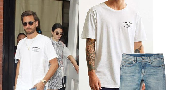 ff03491ce1299 Scott Disick in white tee and skinny fit jeans in New York City July 28 ~  Steal His Outfit