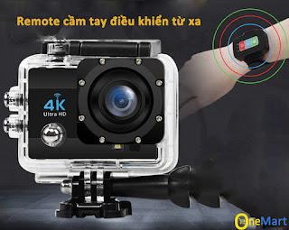 Camera hành trình đi phượt 4k ultra HD WIFI kèm remote Eken H9R