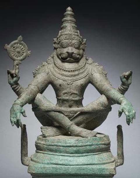 Yoga Narasimha Idol Explains Divine Origin of Yoga