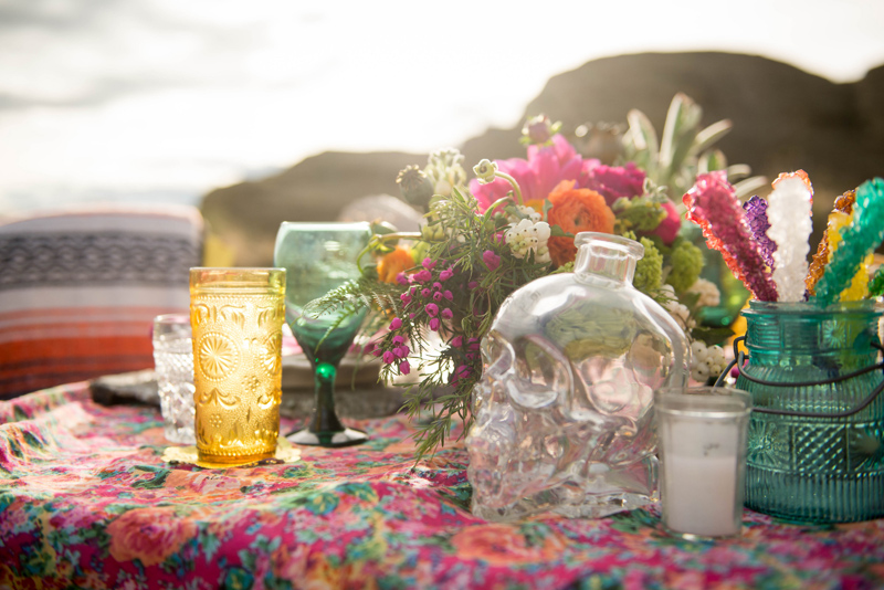 glass skull / Photography: Font & Figure / Floral: Mac's Floral / Rentals: Hutch Event Rentals