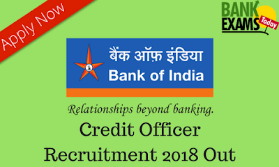 Bank of India Credit Officer Recruitment 2018 Out