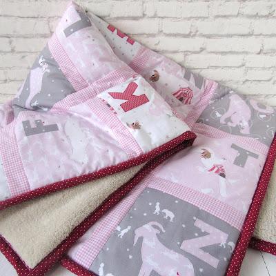 ABC quilt with animal alphabet