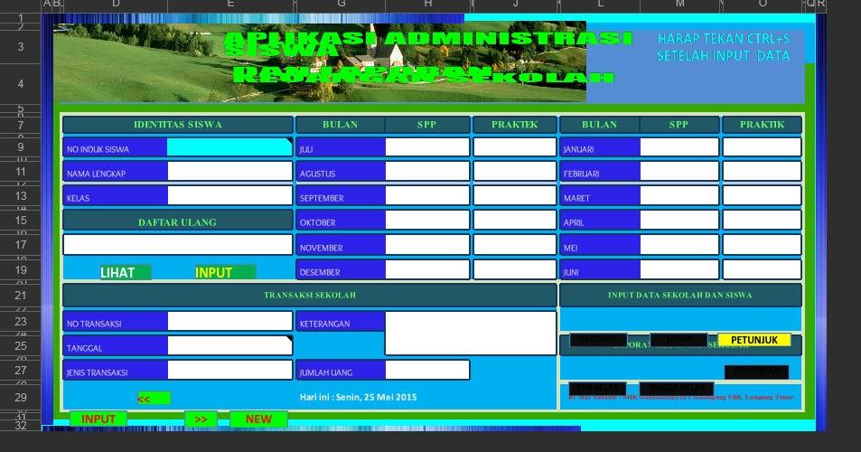 Download Aplikasi Laporan Keuangan Sekolah Excel Gratis Tahun 2016 Administrasi Guru