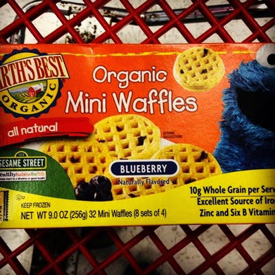 Vegan Vegetarian Food Groceries at Target Kids Sesame Street Earth's Best All Natural Organic Blueberry Mini Frozen Waffles