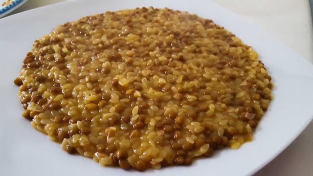 minestra di lenticchie risottata