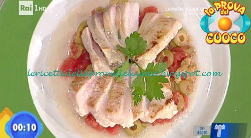 Pesce spada scottato con una concassè di pomodori e olive ricetta Bertol da Prova del Cuoco