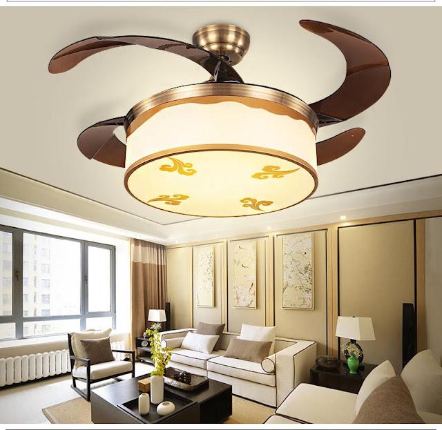 Top 3 mẫu đèn quạt trần phòng khách hiện đại có giá dưới 4 triệu đồng