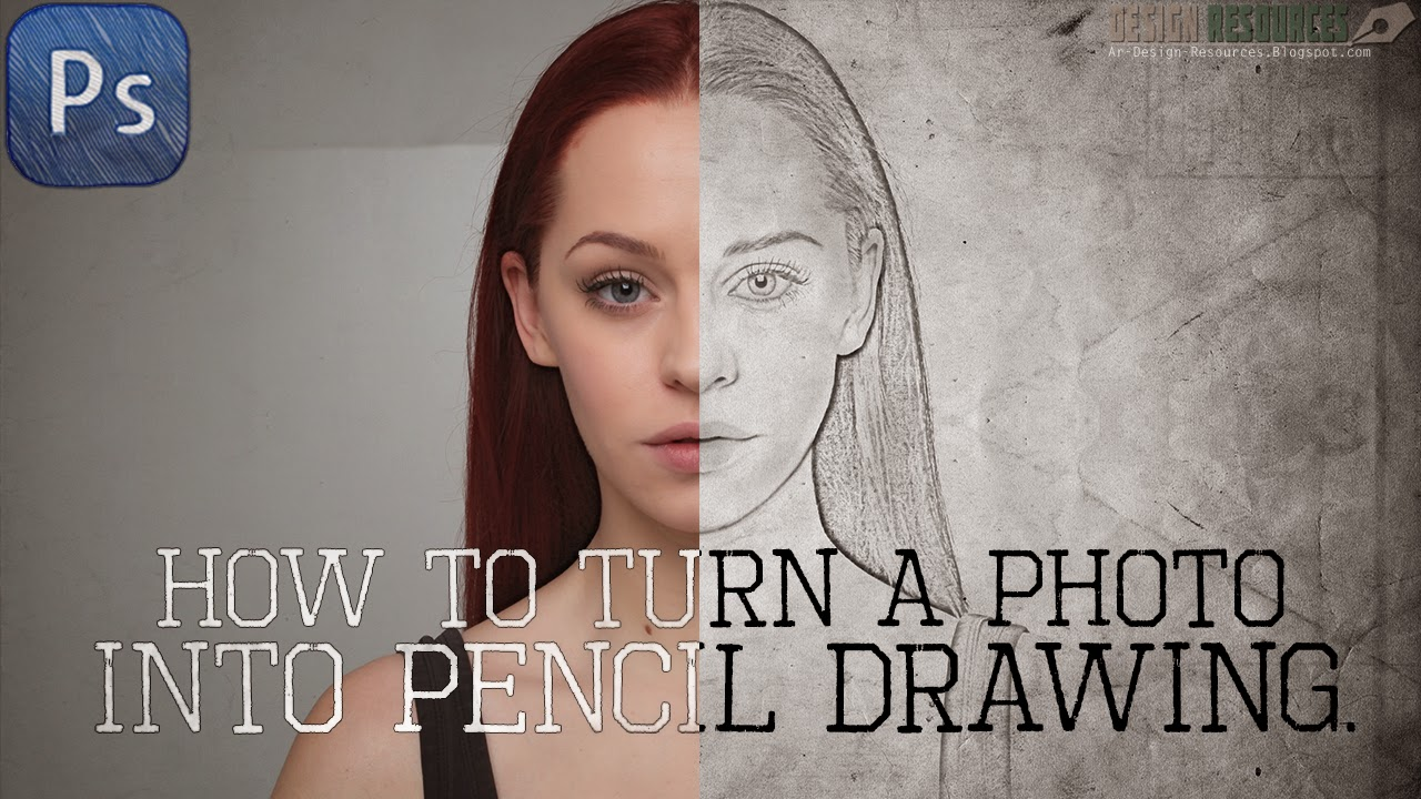 How to turn a photo into Pencil Drawing — Photoshop Tutorial