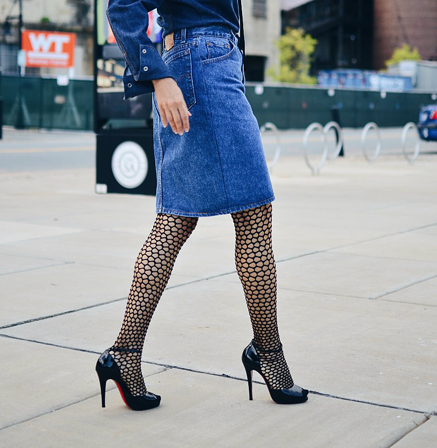Fishnet tights fashion week