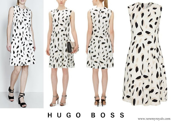 Princess Marie wore Hugo Boss Dikita Patterned dress