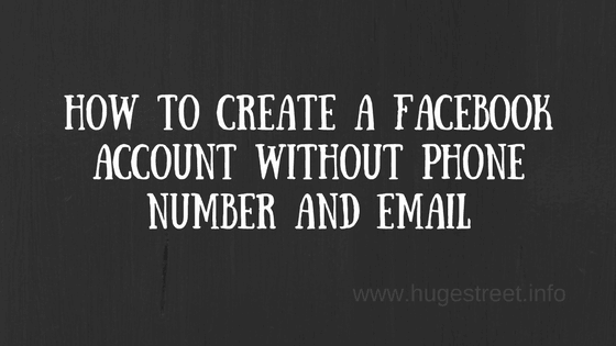 create a facebook account without phone number and email