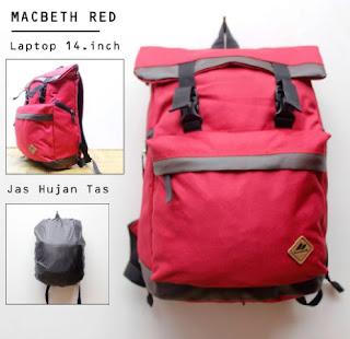 Foto Tas Merk Macbeth Warna Merah Kode 01