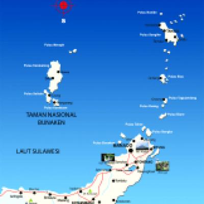 Gambar Peta Sulawesi Utara