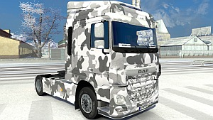 Army Winter DAF Euro 6