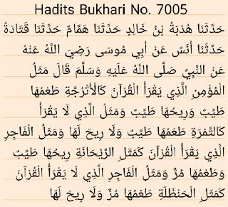 Hadits Shahih Bukhari 7005