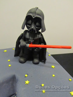 darth vader sugar paste cakes