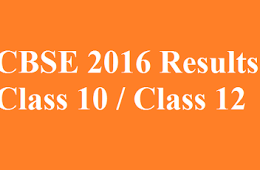 CBSE Class 12th Results 2016