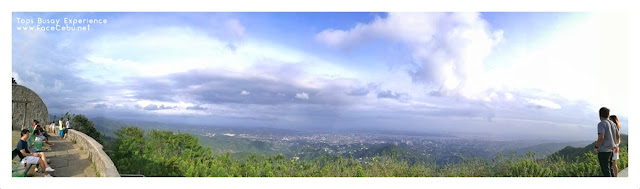 Panorama View of Tops Busay. Pic by Huawei P9
