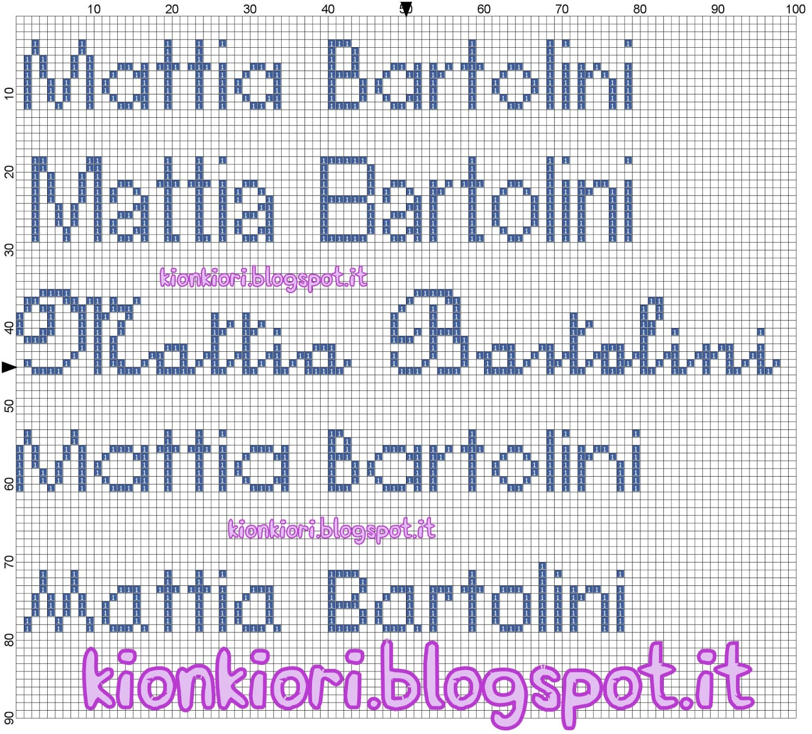 Popolare KIONKIORI Punto Croce: Myriam, Viola, Mattia, Ginevra MX59