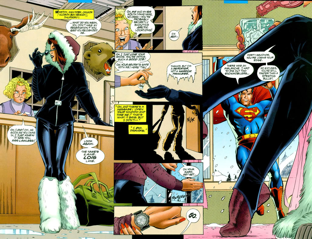 Book Girl: Illustration of the Day: Lois and Clark part #3