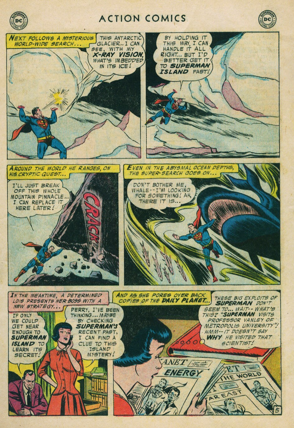 Read online Action Comics (1938) comic -  Issue #224 - 7