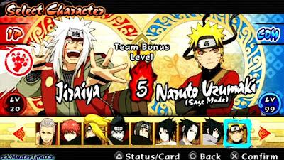 تحميل لعبة ناروتو  Naruto Shippuden Ultimate Ninja Impact على محاكي الالعاب PSP للاندرويد
