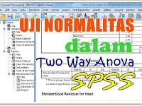 Praktik Uji Normalitas Standardized Residual dalam Two Way Anova SPSS