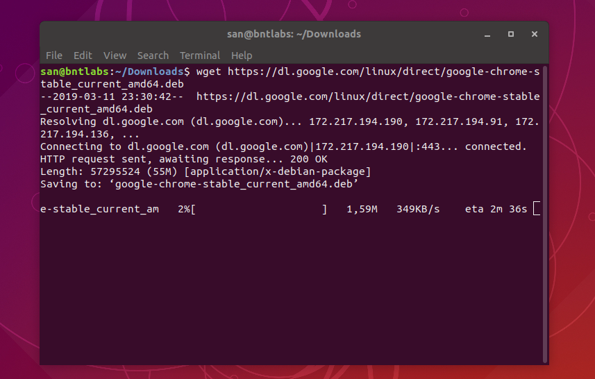 Install Google Chrome 72 x on Ubuntu 18 04, Ubuntu 18 10
