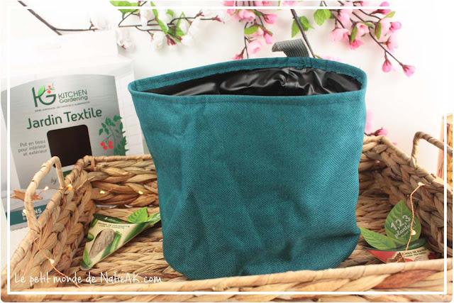 Kitchen Gardening  (Jardin textile, pot 2 l bleu ) de Vilmorin