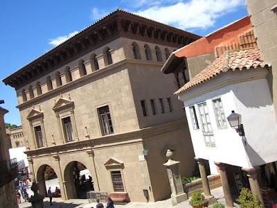 Building of Caldas de Reyes in Galicia