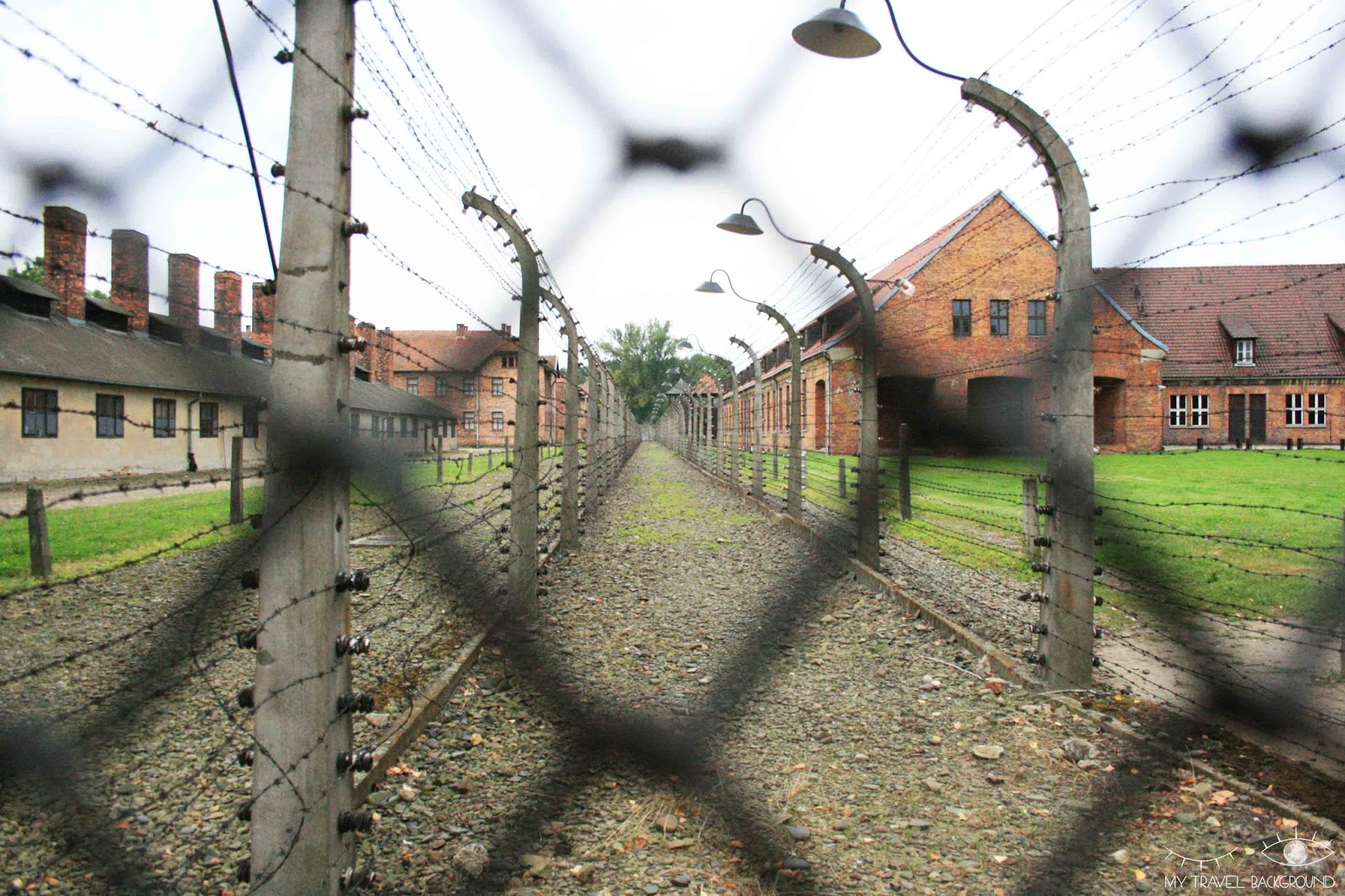 My Travel Background : cartes postales de Pologne - Auschwitz