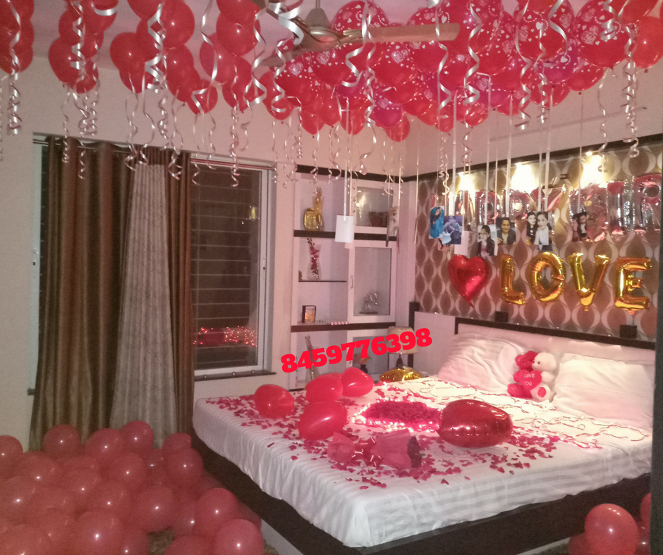 Romantic Rooms And Decorating Ideas: Romantic Room Decoration For Surprise Birthday Party In