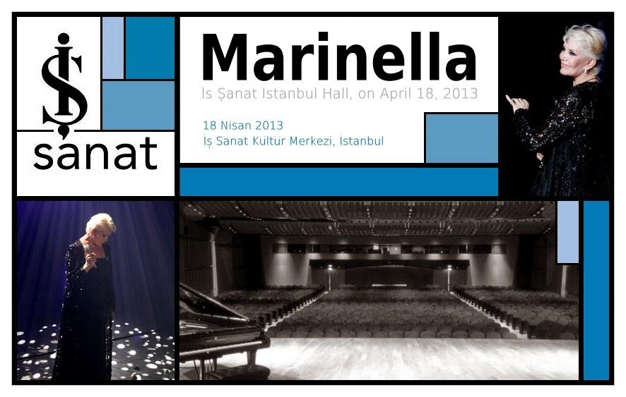 Η Μαρινέλλα στο Μέγαρο Τέχνης και Πολιτισμού της Κωνσταντινούπολης, στις 18 Απριλίου 2013